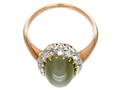 Natural Cats Eye Ring ( Lehsuniya)
