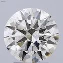 3.00ct Lab Grown Diamond CVD K VS2 Round Brilliant Cut HRD Certified Stone