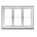 White Hinged Upvc French Window For Residential