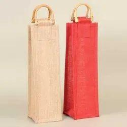 Single Bottle Jute Wine Bag