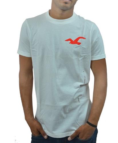 9bde4ac11f7b Causal Wear Plain Hollister Boy  s Crew Neck T-Shirt White