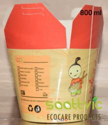 Saattvic 800 Ml Paper Food Packaging Wok Box