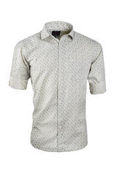 UD Design Printed Half White Casual Shirt