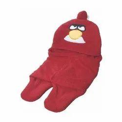 Little Cubs Maroon Printed Baby Blanket Cum Sleeping Bag