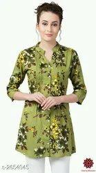 Printed Cherry Blossom Fancy Women Tunic Top