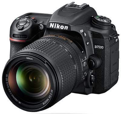 Nikon d7500 dslr with nikkor 18-105mm vr lens