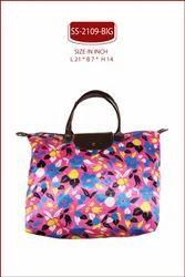 Blue And Black Satin Printed Shopping Bag, Size/Dimension: L 21 X B 7 X H 14