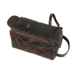 Large Leather Toiletry Unisex Travel Kit Available In Ready Stock For Wholesale