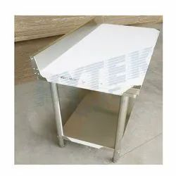 SS202 Two Layer Table With Splash Back