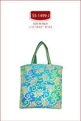 Foil Printed Brocade Bag