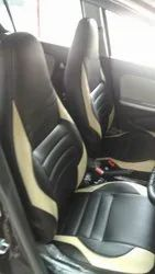 Black and Cream Leather Universal Fit Car Seat Cover, Features: Waterproof, Dustproof