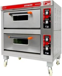 Double Deck Gas Oven 4 Tray 16