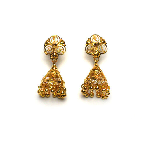 fffc8572f Designer Gold Jhumka, गोल्ड झुमका - Vishesh Jewels & Craft ...