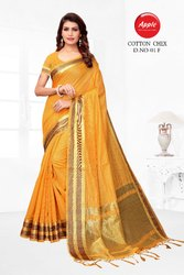Chex Cotton Silk Saree