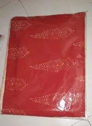 Red Batik Print Dress Material