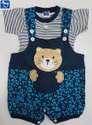 Baby Unisex Printed Gallis or Dungaree Set With Inner T-Shirt (Style No. P09)