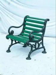 Wooden Rustic Wagon Bench for Patio, Garden, Outdoor