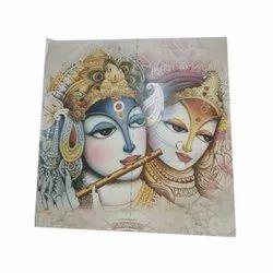 Radha Krishna Printed Tiles, Thickness: 7 mm