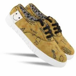 Casual Mens Printed Lace Up Shoes, Size: 6-10