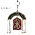 White Metal Wall Hanging Krishna