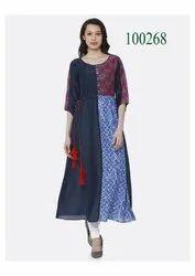 Exclusive Long Cotton Printed Kurti By Parvati Fabric