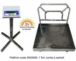900X900 Platform Scale Cap : 1 Ton With Jumbo Loadcell