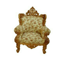 Polished Designer Wooden Carved Chair
