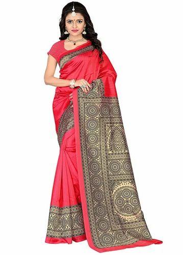 111676077be Mysore Silk Party Wear Jaanvi Fashion Mysore Art Silk Saree Red ...
