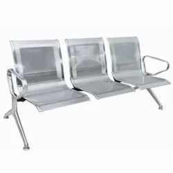 Carevel 3 Seater Stainless Steel Waiting Chair