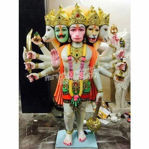 Marble Panchmukhi Hanuman Statue