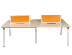 Modern Brown Workstation (W2400 X D1200 X H1050), For Office