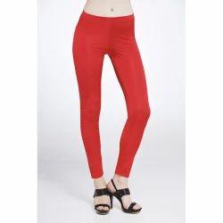 Straight Fit Plain Stylish Ladies Legging, Size: Small