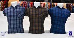 Lancastere Casual Wear Men & Boy Checks Shirts, Wash Care: Machine Wash, Size: s m L