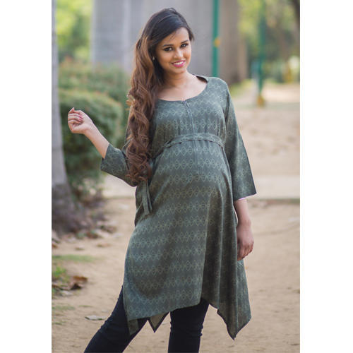 29249d399674e Indian Maternity & Nursing Wear - Blush Pink Concealed Zip Nursing ...