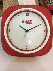 Red And White Promotional Wall Clock