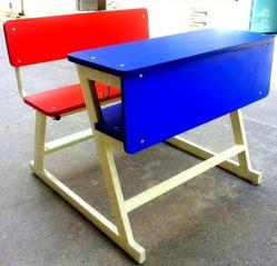 Duel Desk Blue Shade Model Die Bend Frame Front Zali