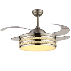 42 Inches Modern Decorative 360 Rotating Ceiling Fan Light Remote Control 220V Hidden Blade