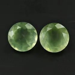 Natural Prehnite Rose Cut Round Shape 10x8 mm Matching Pair Gorgeous Cut Loose Gemstone