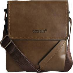 Goblin Men & Women Formal Brown PU Sling Bag