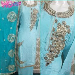 Silk Party Wear Suits W-527