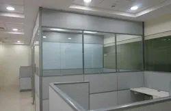 Aluminium Glass Partition Work
