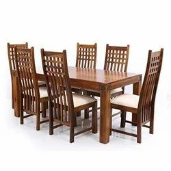 Wooden Standard Height Rosewood Dinning Table for Home, Size/Dimension: 6x3 feet