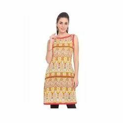 Ladies sleeveless kurti