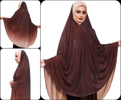 Women Prayer Stitched Abaya Dress Hijab