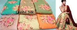 Satin 44-45 Digital Floral Printed Fabric, GSM: 100-150, Model Name/Number: Dunhil Silk