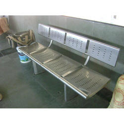 Stainless Steel Railway Bench - 4 Seater