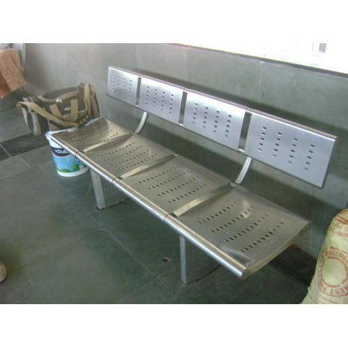 stainless steel benches. Stainless Steel Railway Bench - 4 Seater Benches I