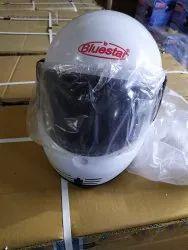 Fiberglass White Bluestar Full Face Bike Helmet, Size: MD
