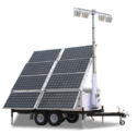 Led Cool White And Pure White Li-fi Solar Portable Mobile Lighting Tower(s2.4p), Ip Rating: Ip65