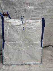 Top Spout Bottom Flat With Liner Jumbo Bag, Size: 90x90x110 Cm, Storage Capacity: 1000 Kg